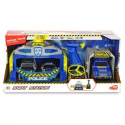 Dickie SOS - Policyjna jednostka SWAT + 3 Samochody Światło Dźwięk