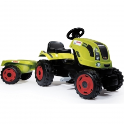 SMOBY Traktor na pedały Farmer XL z przyczepą CLAAS