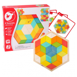 CLASSIC WORLD Drewniane Kolorowe Puzzle 3D