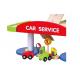 Drewniany Dwupoziomowy garaż z akcesoriami Car Serice Viga Toys