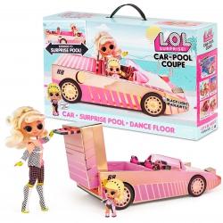 L.O.L. SURPRISE Car pool Coupe 3w1 Samochód, Basen, Parkiet taneczny