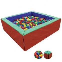 Suchy Basen 200cm x 200cm x 60cm + Piłki do Basenu 4500 sztuk