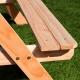 Duży drewniany stolik piknikowy z pojemnikami na piasek i wodę SUNNY