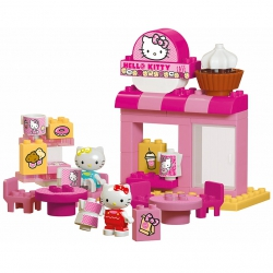 Klocki Big Bloxx Hello Kitty Kawiarnia + 2 figurki 45 elem.