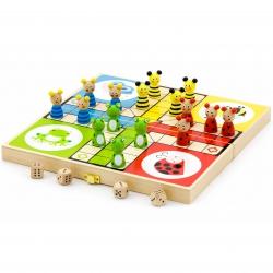 Drewniana gra Ludo Chińczyk Viga Toys