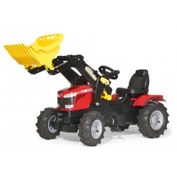 Rolly Toys rollyFarmtrac MASSEY FERGUSON Traktor na pedały z łyżką Pompowane koła