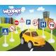 Zestaw Edukacyjny Mini Znaków Drogowych + Samochodzik WOOPIE