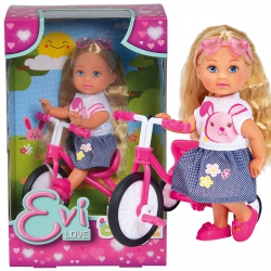 SIMBA Lalka Evi na trójkołowym rowerku
