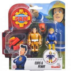 Simba Strażak Sam 2 Figurki Akcesoria Elvis i Penny