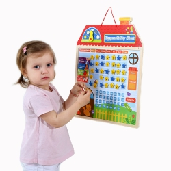 TOOKY TOY Drewniana Tabela Odpowiedzialności Zachowania Kalendarz