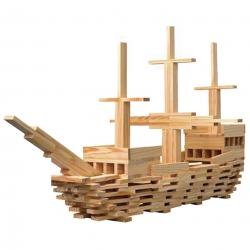 CLASSIC WORLD Drewniane Klocki Konstrukcyjne Klasyczny Świat 250 części