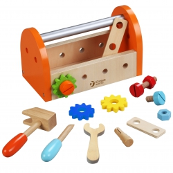 Drewniany zestaw narzędzi w walizce Classic World