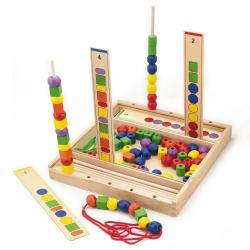 Drewniana Gra edukacyjna Logiczne koraliki Viga Toys