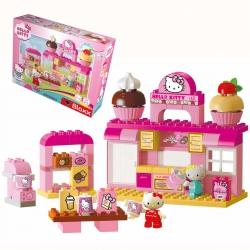 Klocki Big Bloxx Hello Kitty Cukiernia + 2 figurki 82 elem.
