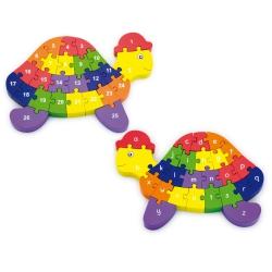 Puzzle 3D do nauki alfabetu i liczenia Żółw Viga