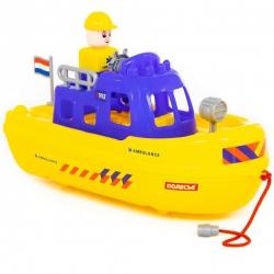 Łódka Do Kąpieli Ambulans Kuter Ratowniczy + Figurka