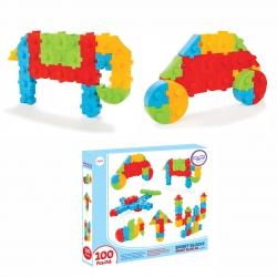WOOPIE Zestaw Konstrukcyjny Klocki Puzzle 100 El.