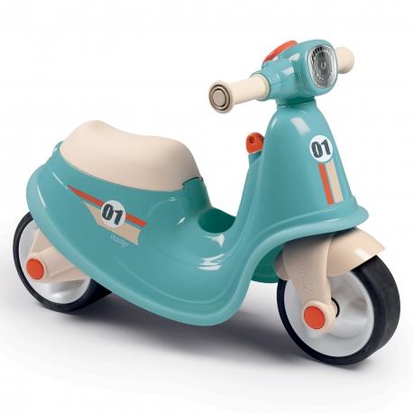 Smoby Niebieski jeździk skuter Retro Ciche koła Scooter