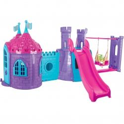 WOOPIE Plac Zabaw 3w1 Zamek Zjeżdżalnia Huśtawka