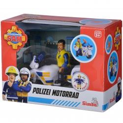 SIMBA Strażak Sam Motor Policyjny + Figurka Malcolma