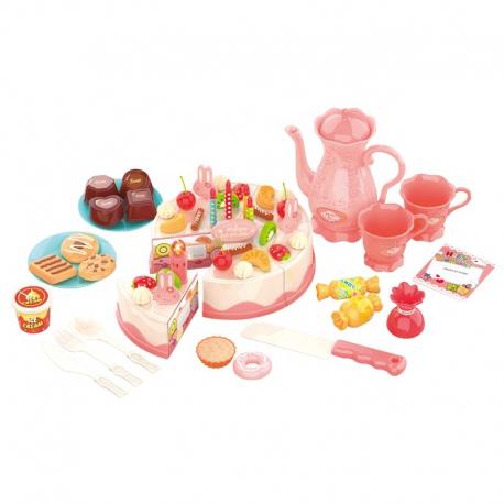 WOOPIE Zestaw do Herbaty z Tortem dla Dzieci + 61 el.