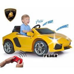 FEBER Samochód na Akumulator Lamborghini Aventador 6V