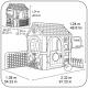 FEBER Dom Aktywności Wielofunkcyjny Domek 6 w 1 z Dołączonymi Grami