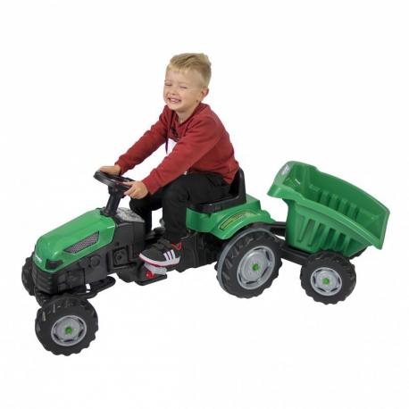 WOOPIE Traktor MAX na pedały z przyczepą zielony