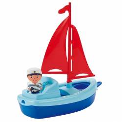 ECOIFFIER Mini Łódka Motorówka Statek do Wanny Piasku 22cm