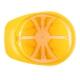 WOOPIE Kask Ochronny z Daszkiem Żółty Narzędzia