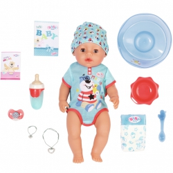 Lalka Interaktywna Baby Born 43cm Magic Boy 9 Funkcji + 10 Akcesoriów