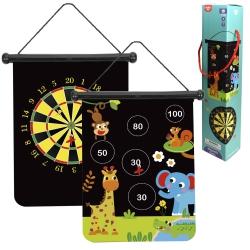 Tooky Toy Gra w Rzutki Magnetyczne dla Dzieci w Dwóch Wzorach + 6 Rzutek