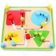 Tooky Toy Dwustronny Kolorowy Labirynt 2w1 Zwierzątka i Kształty