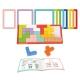 Tooky Toy Układanka Klocki Tetris 10 Poziomów Trudności 22 el.