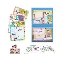 Tooky Toy Tablica Magnetyczna Układanka Puzzle Gra Logiczna dla Dzieci 40 el.