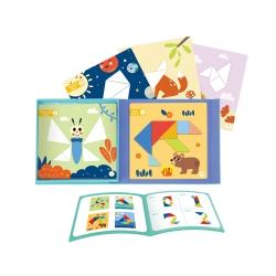 TOOKY TOY Puzzle Tangram Układanka dla Dzieci Nauka Kształtów Figury Kształty 18el.