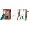 STEP2 Plac Zabaw dla Dzieci z Domkiem Zjeżdżalnią Huśtawkami i Szybowcem