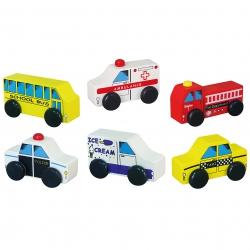 VIGA Drewniane Pojazdy miejskie małego ratownika