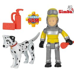 Simba Strażak Sam Figurka Penny i pies Radar Akcesoria