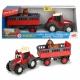 DICKIE ABC Happy Massey Ferguson Traktor z przyczepką i koniem