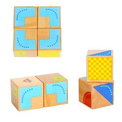 TOOKY TOY Drewniane Klocki Sensoryczne Kreatywne Symetria
