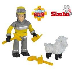 Simba Strażak Sam Figurka Elvis i Owieczka Wolly Akcesoria